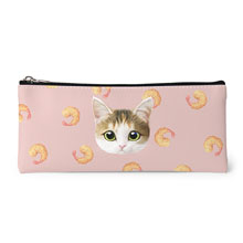 Dari's Fried Shrimp Face Leather Pencilcase