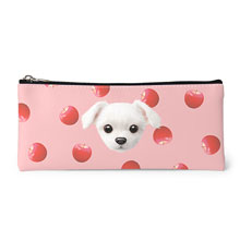 Dongdong's Apple Face Leather Pencilcase