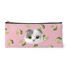 Duna's Tuna Can Face Leather Pencilcase