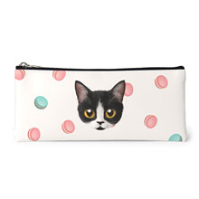 Jelly's Macaroon Face Leather Pencilcase