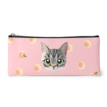 Momo the American shorthair cat's Peach Face Leather Pencilcase