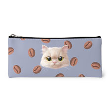 Nini's Coffee Bean Bread Face Leather Pencilcase
