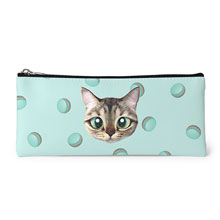 Rini's Macaroon Face Leather Pencilcase