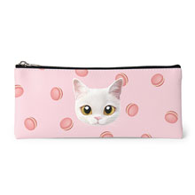 Santo's Macaroon Face Leather Pencilcase