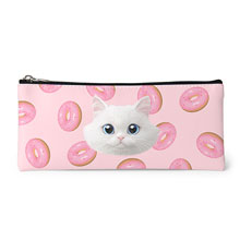 Soondooboo's Donuts Face Leather Pencilcase