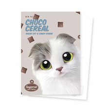 Duna's Choco Cereal New Patterns Postcard
