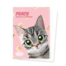 Momo the American shorthair cat's Peach New Patterns Postcard