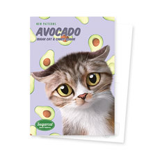 Ohsiong's Avocado New Patterns Postcard