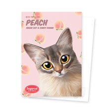 Rose's Peach New Patterns Postcard