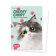 Zzing's Cherry Candy New Patterns Postcard