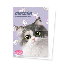 Zzing's Unicorn New Patterns Postcard