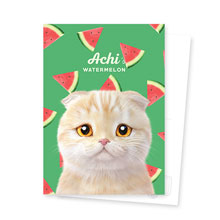 Achi's Watermelon Postcard