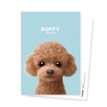 Ruffy the Poodle Postcard