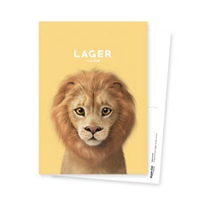 Lager the Lion Postcard
