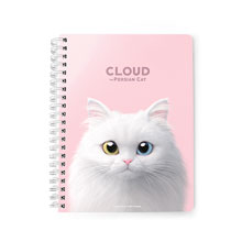Cloud the Persian Cat Spring Note