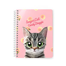 Momo the American shorthair cat's Peach Script Logo Spring Note