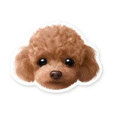 Ruffy the Poodle Face Deco Sticker