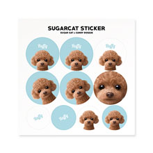 Ruffy the Poodle Sticker