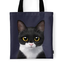 Byeol the Tuxedo Cat Tote Bag