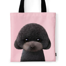 Choco the Black Poodle Tote Bag
