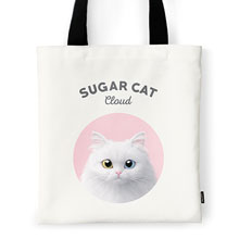Cloud the Persian Cat Ivory Tote Bag