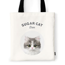Dan the Kitten Ivory Tote Bag