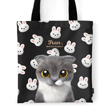 Fran's White Rabbit Tote Bag