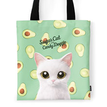 Danchu's Avocado Script Logo Tote Bag
