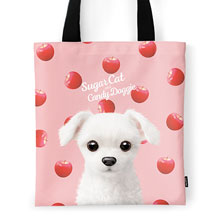 Dongdong's Apple Script Logo Tote Bag